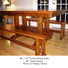Trestle Bench - Vintage Cherry