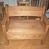 Medium Oak Deacon's Hall Bench
