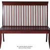 Lancaster Bench - Winter Walnut