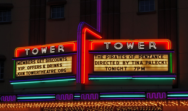 Tower Theater sign, downtown Bend, Oregon