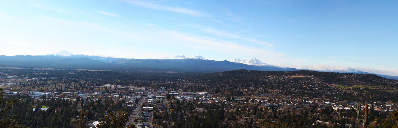 The Cascades from the top of Pilot Butte, Bend,Oregon