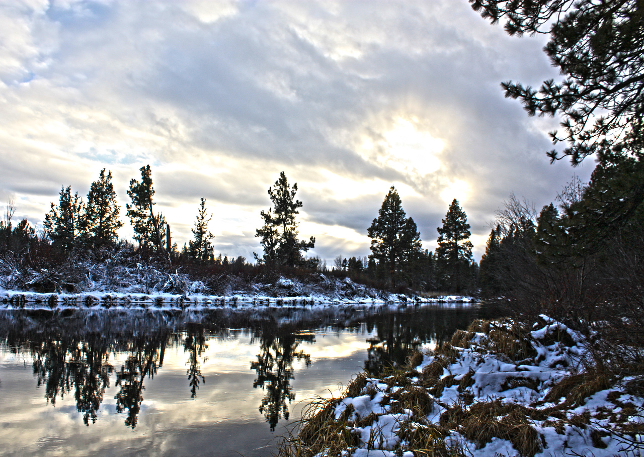 Reflections on the Deschutes River, Bend Oregon