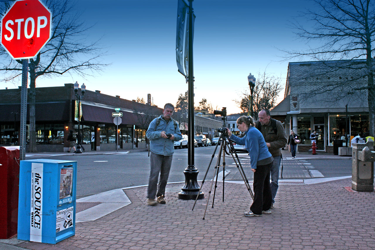 NIght shoot in downtown Bend, Oregon, with the Cascade Center for Photography