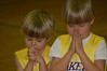 Sweet boys praying for a good game!