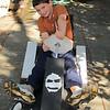 Max made this go-cart at Galileo camp