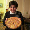 Max made this delicious apple pie, from scratch, by himself!!!