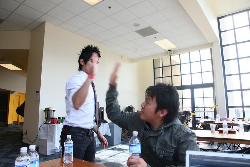Bryan high-fives Sammy