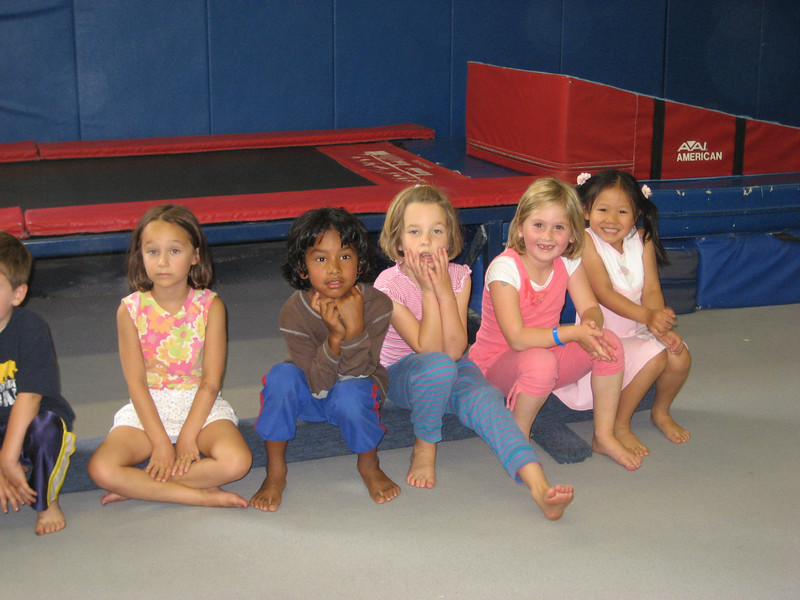 Syl's birthday party at a Cal gym.