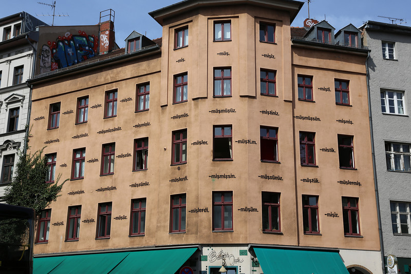 A building in the turkish quarter of Berlin, showing all gramatical forms of the expression ' it seems that'...