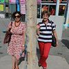 My wife (left) and my suister, separated by the Berlin Wall....