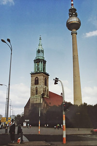 PICT0063 TV Tower, East Berlin September 1990 SM