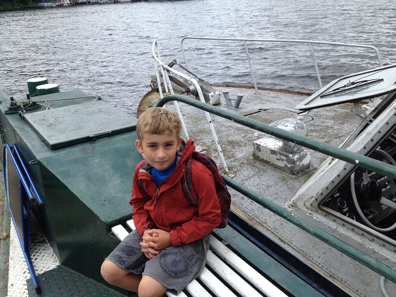 Max onthe way to Lindwerder Island