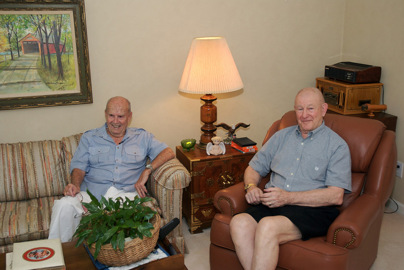 <b>Chuck Martin and Mike Hall </b> Taken in August 2007 during an interview with former World Airways and Delta Airline Captain Chuck Martin, of the Bermuda Sky Queen, and Lt. Mike Hall, USCG (Retired), former Gunnery Officer, USCGC Bibb. The interview was conducted by Jim Sherwin of Sherwin Media and filmed by John Sherwin of Videos on the Net. Also attending were Chuck's wife, Jane, herself a retired Delta Air Lines Flight Attendant, Mike's wife Eleanor, Margaret O'Shaughnessy, Director of the Foynes Flying Boat Museum and museum supporters Arlene and David Brown.  Photo:  David Brown