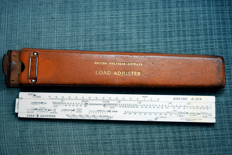 "A Load Calculator or ""Load Stick"" issued to the Boeing 314 Clippers to calculate the weight and balance of the aircraft.  Property of Former World Airways Clipper Captain and Delta retiree, Chuck Martin, Marietta, GA.  Photo: David Brown / Aug 2007"