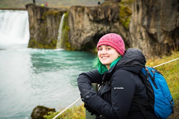 Felicity at Goðafoss