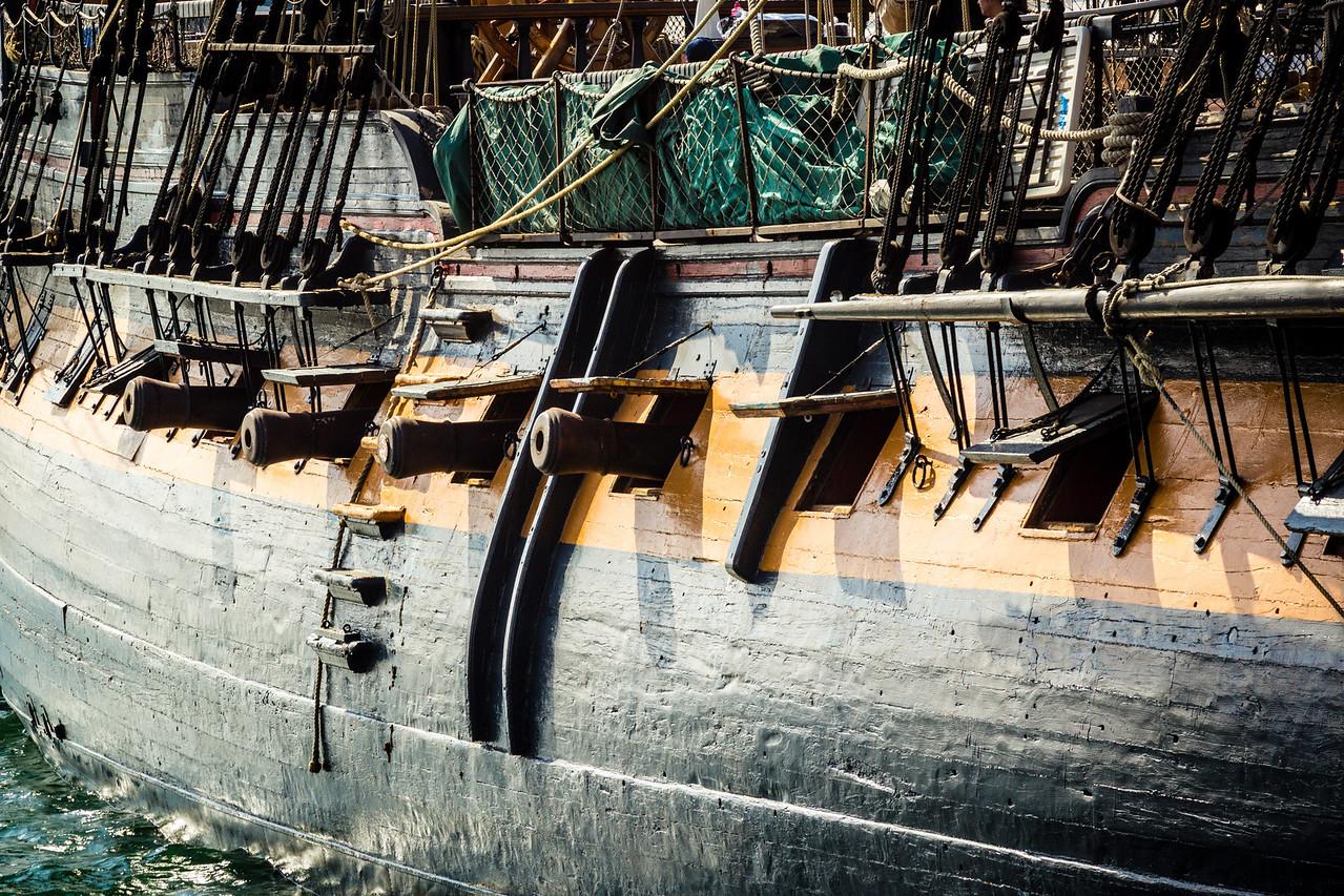 Guns of the HMS Surprise