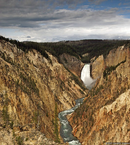 Artist Point, accessed via the South Rim Drive, provides a stunning view of the distant 308-foot-high Lower Falls along with Yellowstone Canyon.