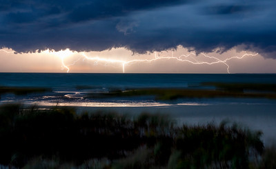 Cape Cod Bay Lightning storm