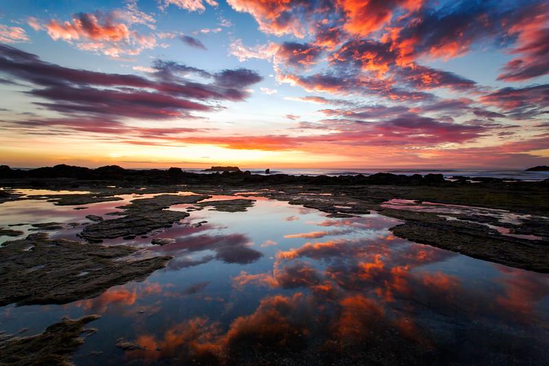 Costa Rica Reef Sunset