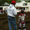 No Dad. This is the fast line. The interactions between father and son is something that makes motocross special.