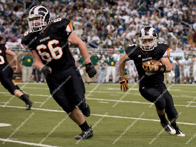 Rockford vs. Lake Orion<br /> Boy's High School Football<br /> 2008 MHSAA Division 1 Final