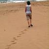Sheri on beach at Cape Vidal, iSimangaliso Wetland Park