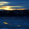Frozen Hudson River Sunset