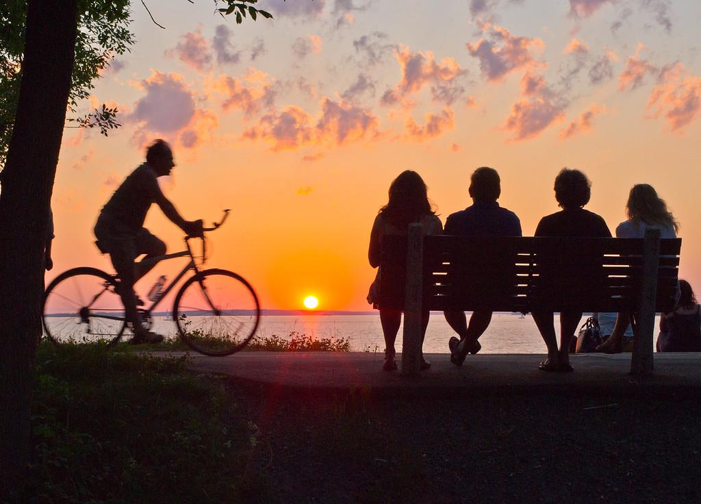 Summer solstice sunset over the Ottawa River
