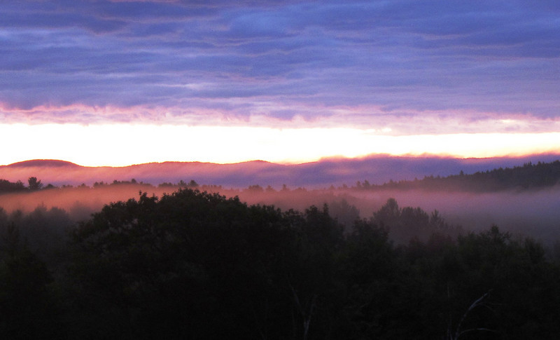 Worth the overnight run: beautiful morning sunrise over White Mountains
