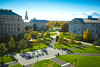 Fall Exteriors from the Roof of Squire Hall at the South Campus Quad with Harriman, Abbott and Foster Halls with Hayes in the Background<br /> <br /> Photographer: Douglas Levere