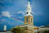 Rainbow over Hayes Hall on South Campus<br /> <br /> Photographer: Douglas Levere