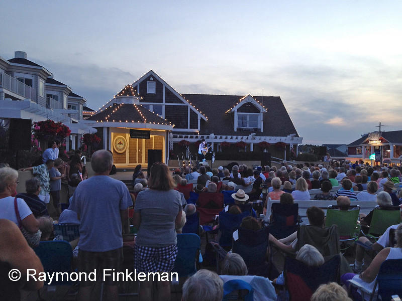 Christopher Westfall in concert at the Bandstand.