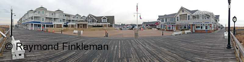 Panorama of Bethany Beach Boardwalk