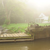 C & O Canal National Historic Park-Maryland-Montgomery County-USA-morning fog at lock house 7