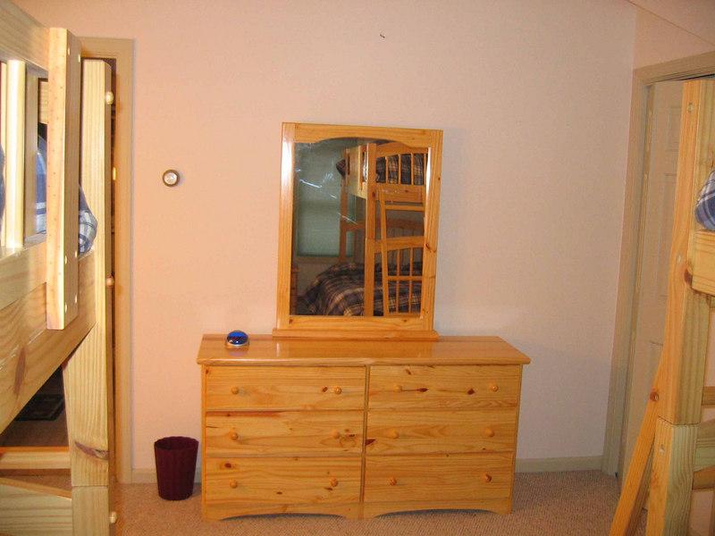 second floor bedroom-sleeps 4 and shares bathroom/shower/tub with master bedroom
