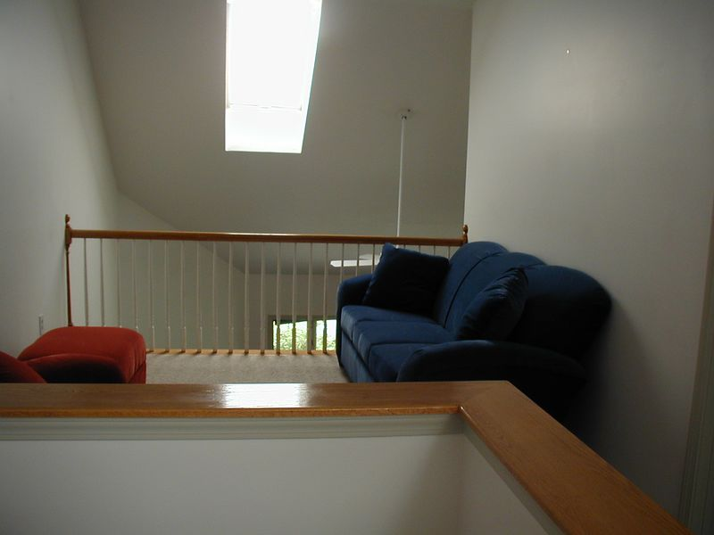 "loft- this is our ""retro"" lounger area with comfy seats"
