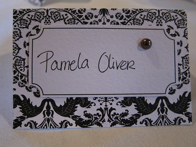Actually, everyone had his or her own place card.