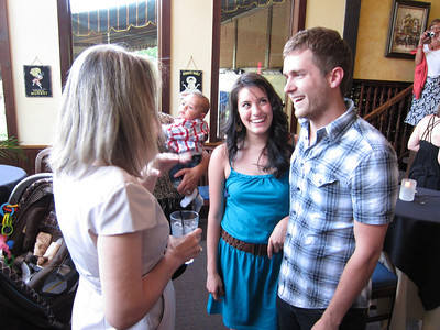 Best Man, Andrew, and his girlfriend.