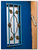 Colorful:<br /> A door and a Mezuzah in the neighborhood of Nachlaot, Jerusalem.