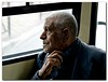 In his own World:<br /> <br /> a man gazing out from a number 6 Bus Window, Jerusalem.