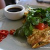 Omelette for breakfast at a cafe at Coogee Beach, Sydney, NSW in November 2017