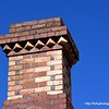 A brick chimney in Albury, NSW in December 2017
