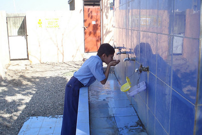Bhadwa Primary School- Water Wells,  Distribution of Plates, Bowls Etc