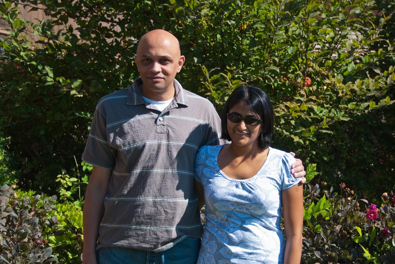 Tarang and Bhumisha outside Turnbull Winery