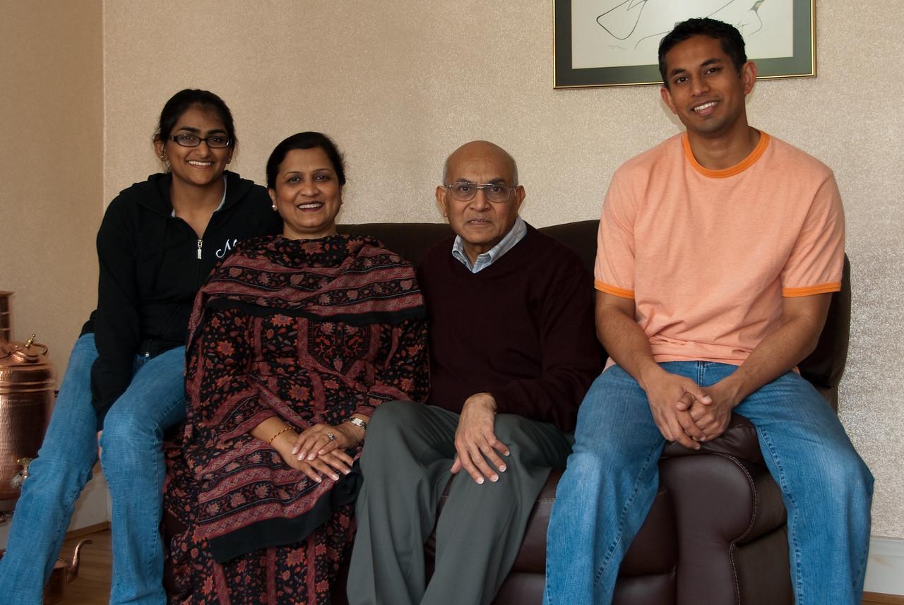 Bhumisha, Indira Aunty, Bharat Uncle, and me