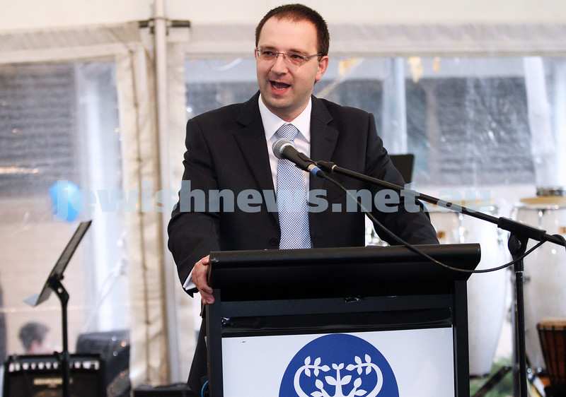 3-6-12. Bialik College 70th. New school principal, Jeremy Stowe-Lindner. Photo: Peter Haskin