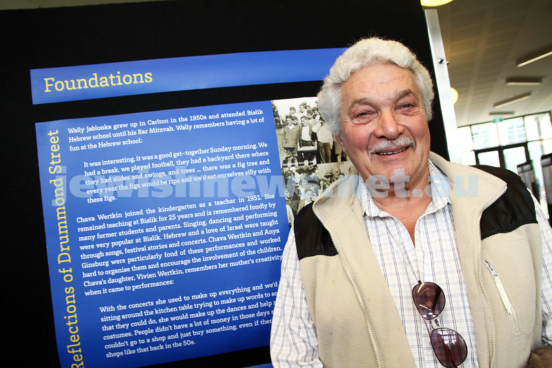 3-6-12. Bialik College 70th. Wally Jablonka. Photo: Peter Haskin