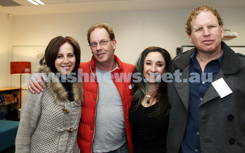 3-6-12. Bialik College 70th. From left: Esther Posner, Peter Haskin, Adriane Sloan, Philip Hall.
