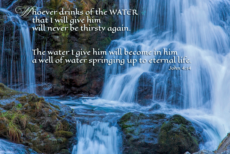 Whoever drinks of the water that I will give him...