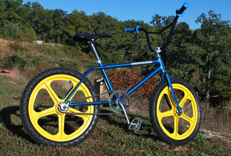 mid 70s Schwinn Scrambler.  Skyway Tuff II wheels, V-Bars,